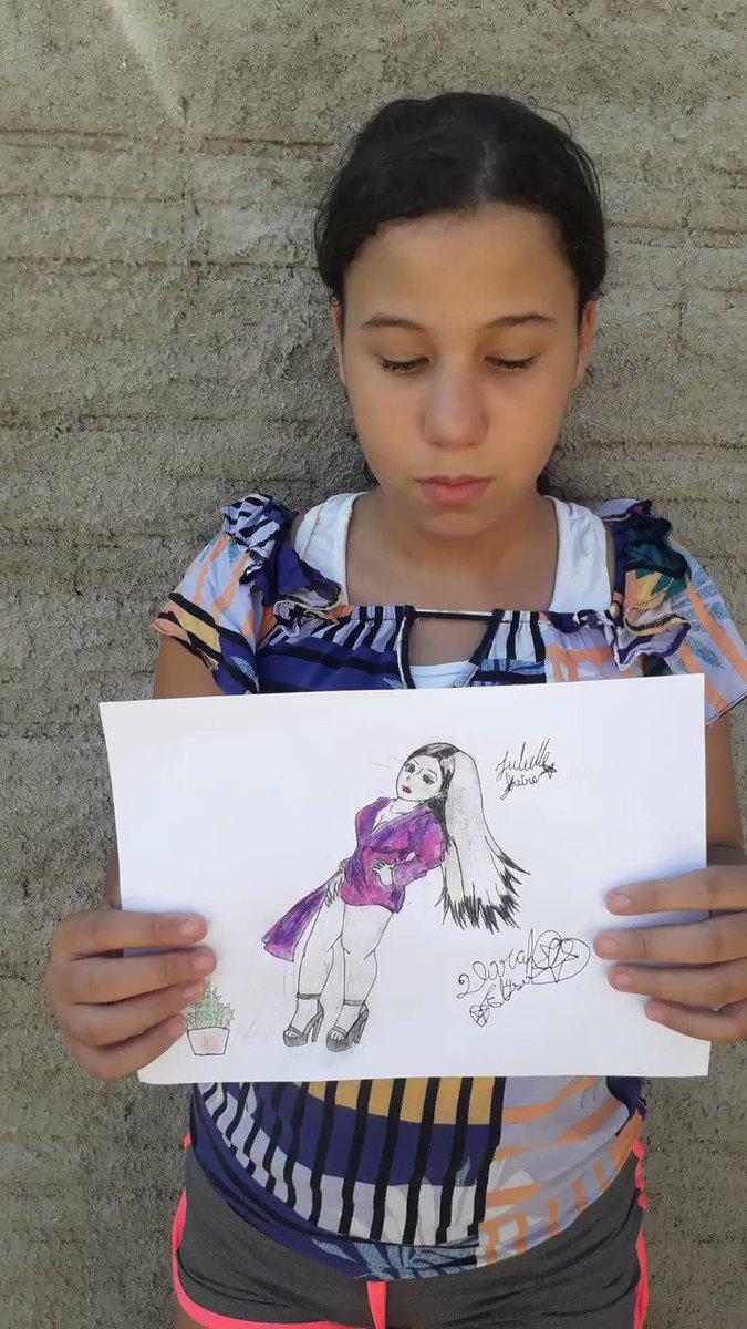 Essa é a Darah Elysa, ela falou um pouquinho porque desenha a @acessojuliette e o quanto a Jú a inspirou. Só tenho que agradecer ver minha filha se abrir e buscar para realizar os sonhos dela não têm preço. 🌵🌵🌵🌵 https://t.co/SgghdufB4m