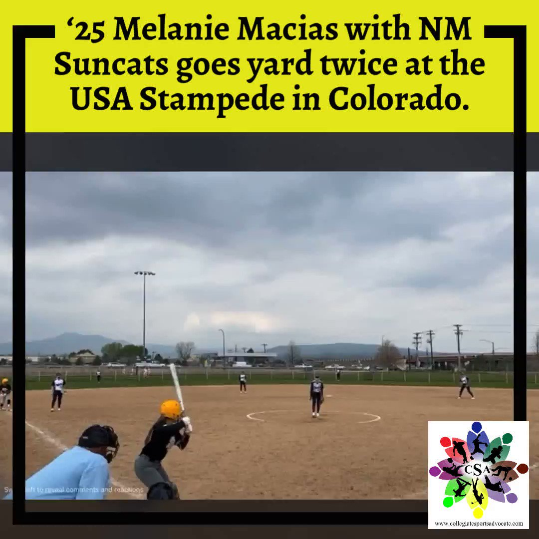 '25 Melanie Macias with NM Suncats goes yard twice at the USA Stampede in Colorado.  #TeamCSA #Softball #CSA_Athletes #Results #Belntentional #NCAAsoftball #CollegeSoftball #uncommitted #wayover #lovethegame #2025  @melanie_fire00 @CSA_Athletes
