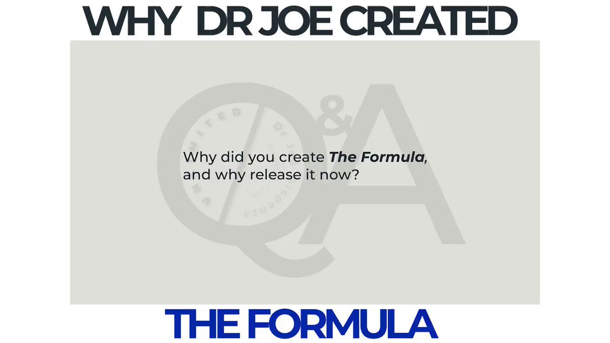 The Formula is distillation of years of Dr Joe's extensive research & teachings,condensed into a scientifically-proven formula for personal transformation. By participating in The Formula, u will unlock unlimited possibilities. Learn more https://t.co/YmocrwgSDi #DrJoeTheFormula https://t.co/zfMerkEK4K