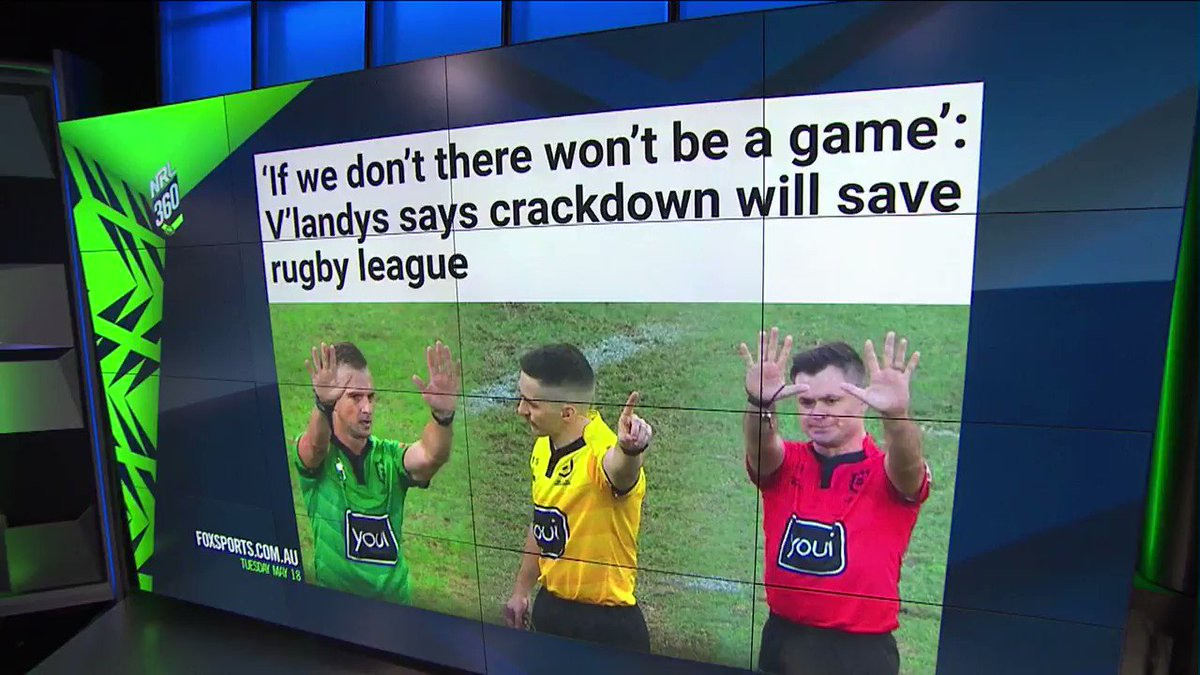 """""""There are players in their 40s and 50s who are suffering the early stages of dementia.""""Hadley backs the NRL's crackdown on high-contact tackles. Tune into #NRL360 on Ch 502 or stream on @kayosports"""