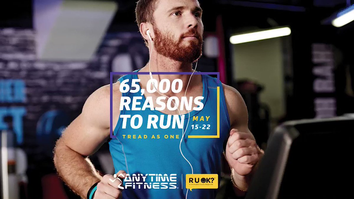 """The Anytime Fitness #TreadAsOne challenge (treadasone.com.au) supports #RUOK and our work inspiring and empowering everyone to ask, """"are you OK?"""" and lend support to the people in their world who are struggling. Here's a tip to help you be there for your mates."""
