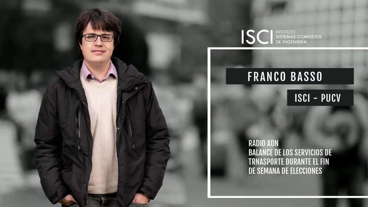 Image for the Tweet beginning: Investigador ISCI - PUCV @FrancoBassoSotz,