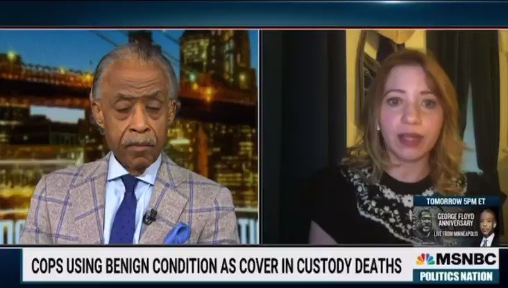 New York Times reporter Jennifer Valentino Devries joined me on #PoliticsNation to discuss how police are using a benign condition to cover custody deaths. https://t.co/bAcqMeWso4