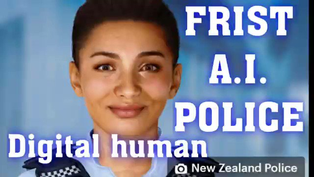 English #Police Video Tweets – New Zealand 1st A.I. POLICE [Artificial Intelligence TAKEOVER continues] via Ema…