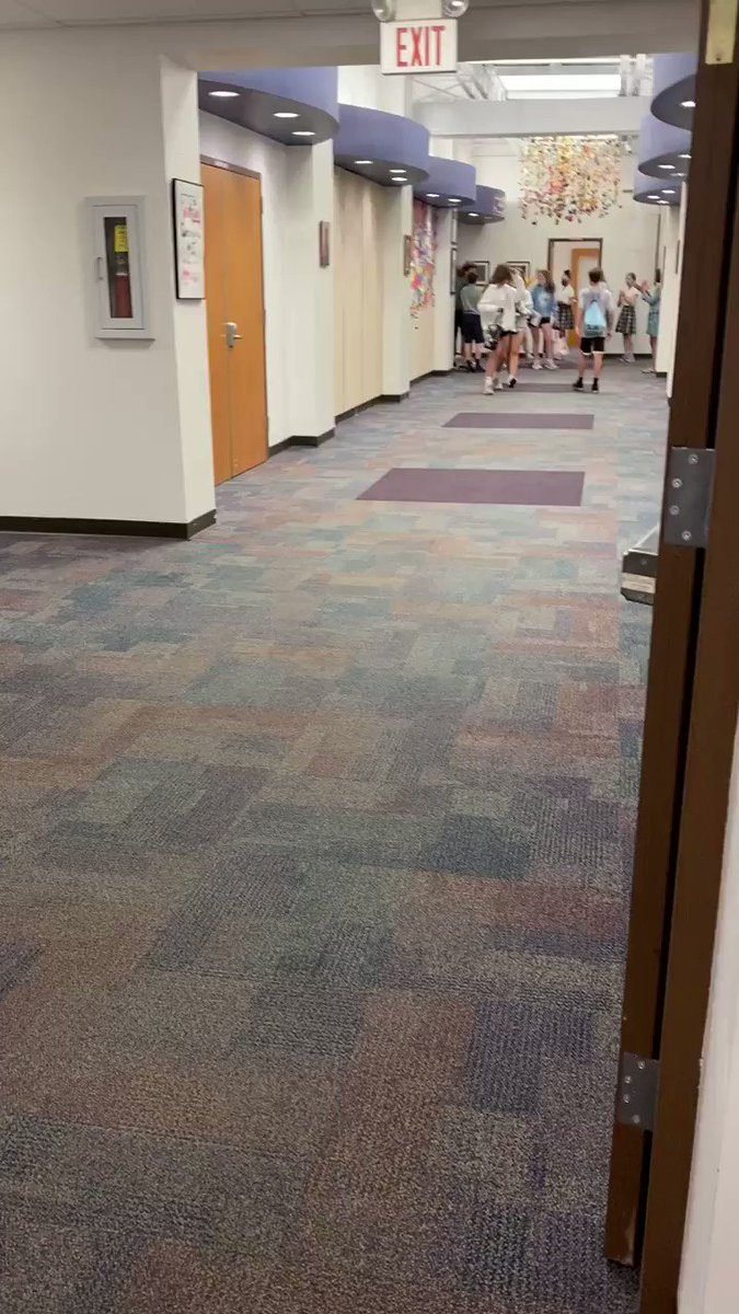 Image for the Tweet beginning: Today we filled the hallways