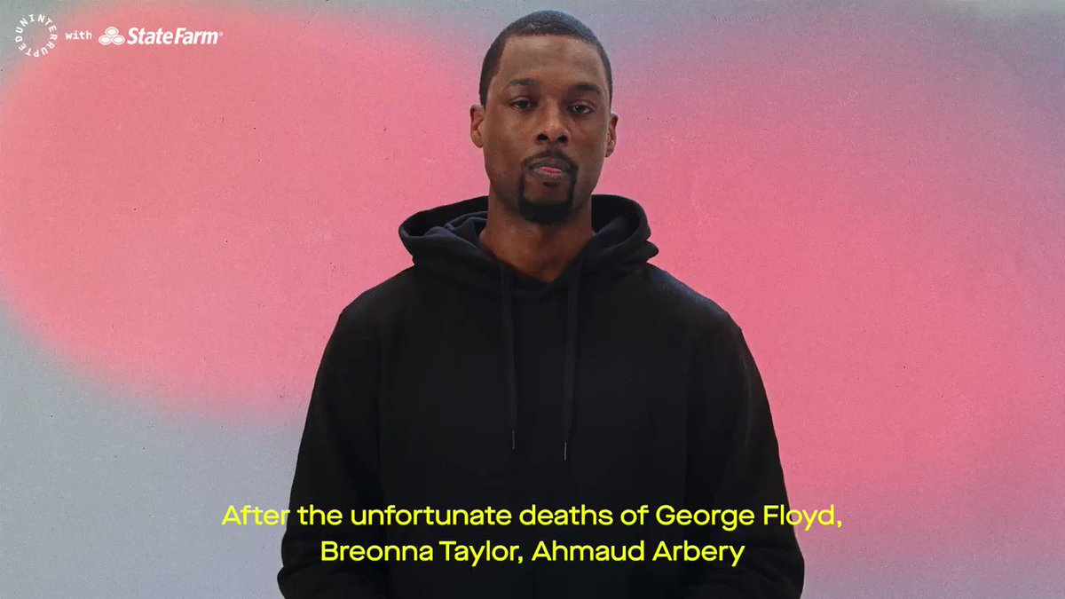 We're stronger together! 💪 @hbarnes gives his take on the important steps ahead. #MoreThanAnAthlete  📺 Watch the new episode: https://t.co/qJbDbtAVSD @UNINTERRUPTED's #RespectYourOGs | @statefarm https://t.co/nyTgHLpU0U