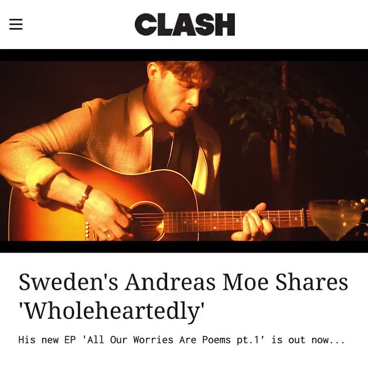 Premiere over at @ClashMagazine  for @andreasmoemusic 'Wholeheartedly' video ✨  Check it out!  https://t.co/NFwek2YQ1x https://t.co/HO6YxUwwFz