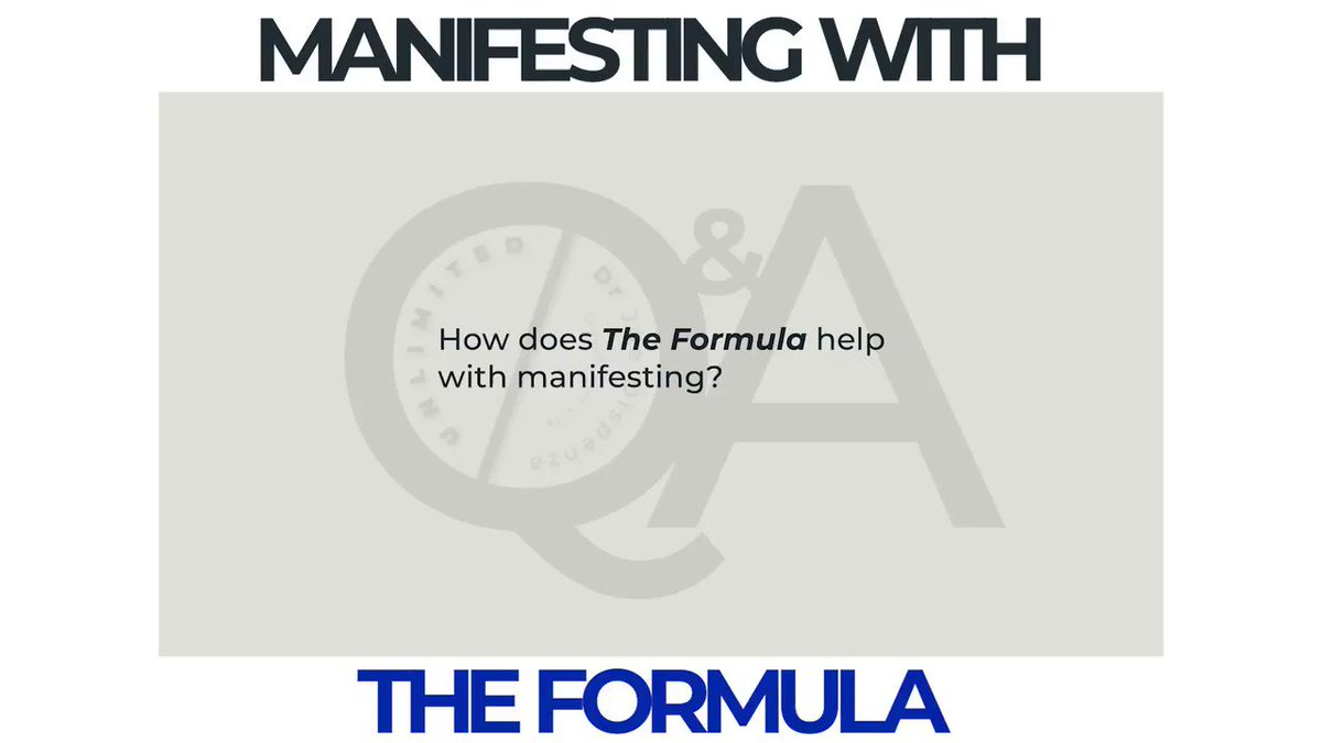 Dr Joe explains how The Formula can help with manifesting. To learn more click:  https://t.co/SkqtNH2jcb Tell us about your experience with The Formula using #DrJoeTheFormula https://t.co/jtkltj500j