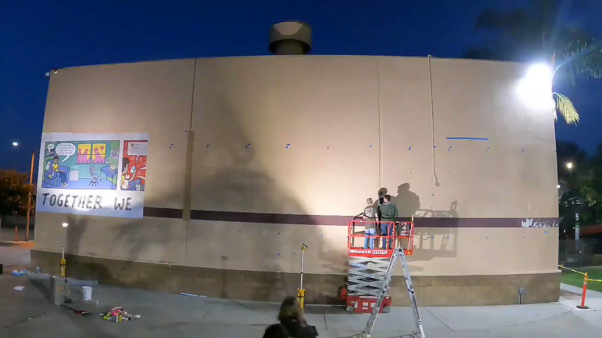 Image for the Tweet beginning: Time-lapse video of the erection