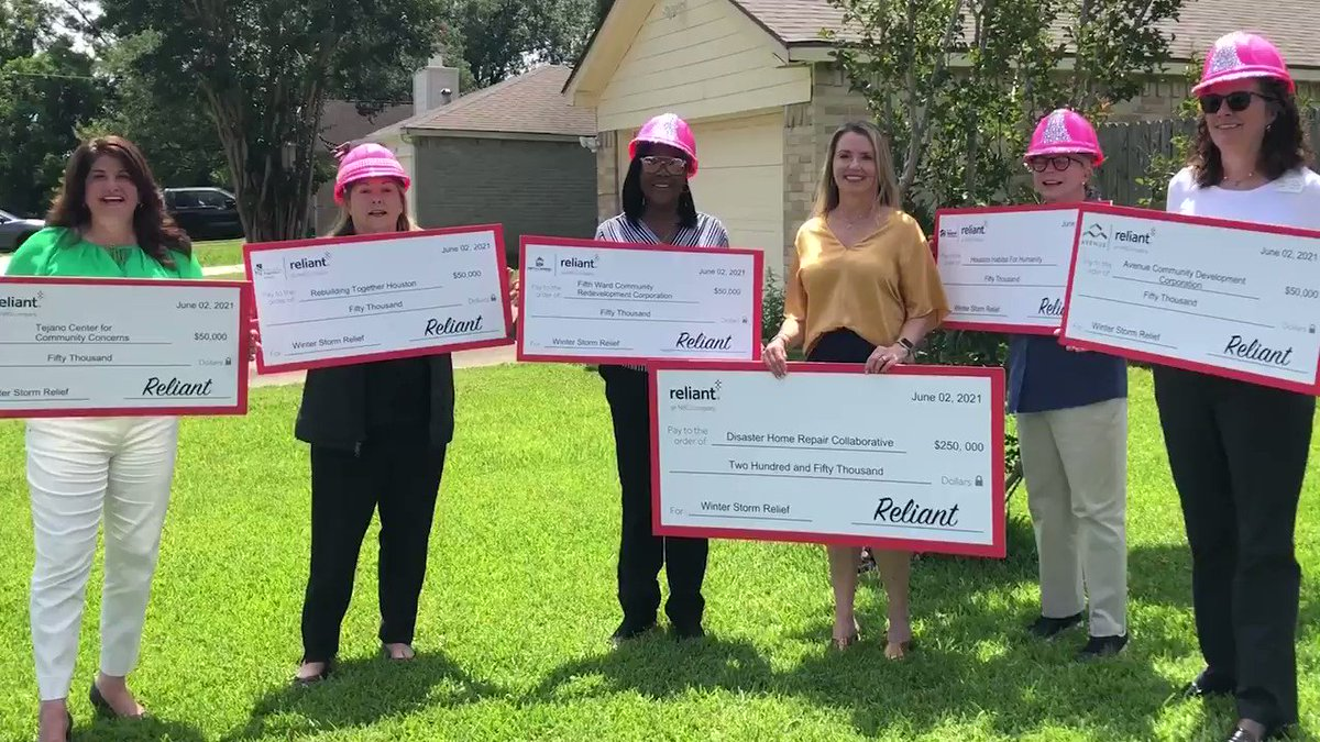 Many of our neighbors still need help to recover from the winter storms in Houston. Thanks to @reliantenergy  for funding five women-led organizations, who teamed up for needed repairs. We met today with one grateful homeowner, Ms. Dalcour. #RepairingHomes #RebuildingLives. https://t.co/mYHQ7tQKWZ