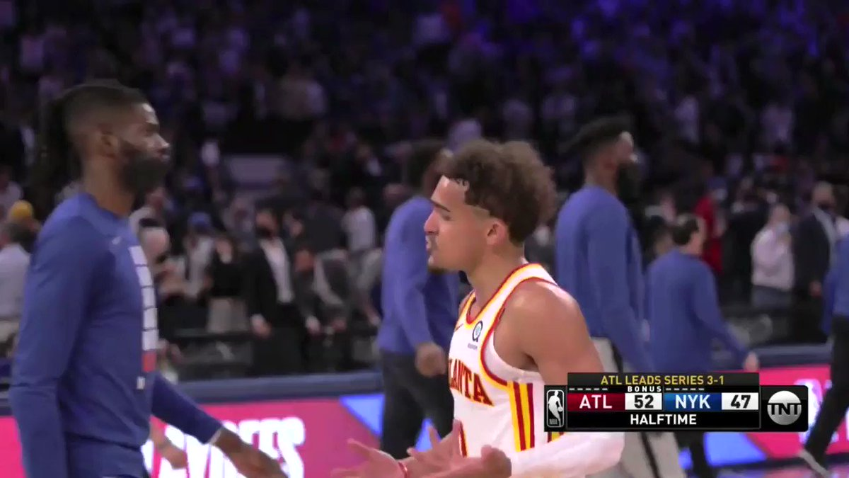 Trae Young headed to the second round like.  #OUDNA x #NBAPlayoffs https://t.co/LOY0LzHBl1