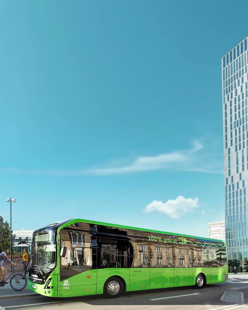 Nu tredubblar vi antalet elbussar i Malmö för en renare, tystare och grönare resa. Tillsammans för en hållbar framtid 💚🌿 https://t.co/MGtj5OPbOk