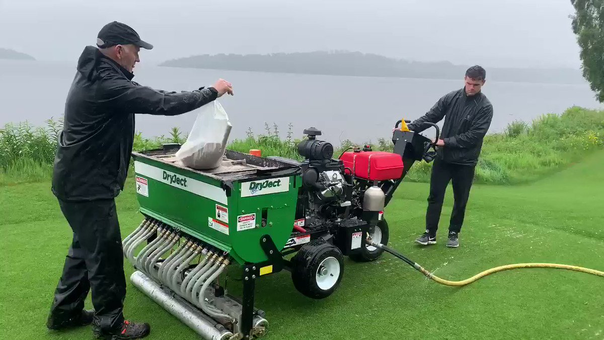 Image for the Tweet beginning: Dryject injection in the rain.