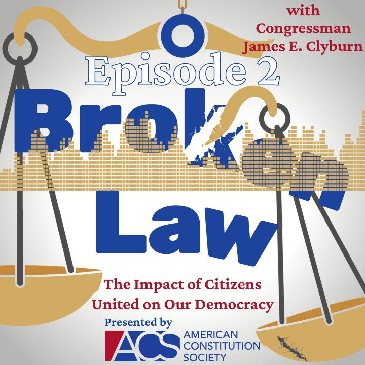 """If you haven't already, make sure to check out @acslaw's  new podcast """"Broken Law.""""   Really appreciated @WhipClyburn sitting down with me to discuss the state of our democracy, including the packing of the federal courts in recent years. https://t.co/nK3VYMMgmL"""