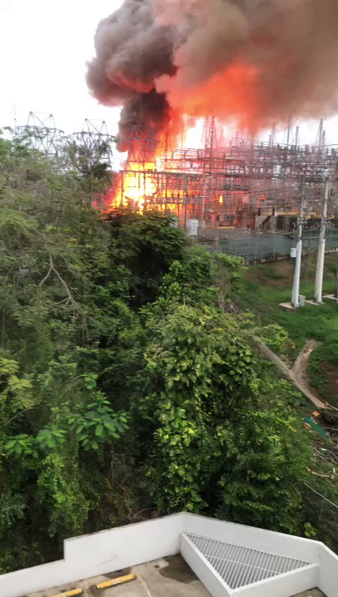 Looks like Puerto Rico's main power plant just blew up a week after it got privatized. Half of the island is without power. https://t.co/VHvYJuIim4