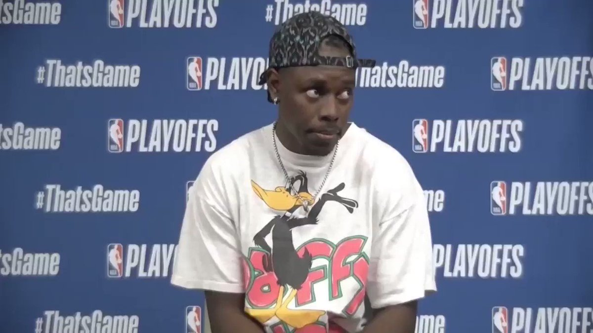 """""""I just made a move and it was a good one and ended up getting the layup."""" - @Bucks' guard @Jrue_Holiday11 on his basket to put Milwaukee up 84-83. #NBAPlayoff @BucksFans7 @MilwaukBucks_BR @MilwaukeeBucks_ https://t.co/eyzZN8QDSt"""