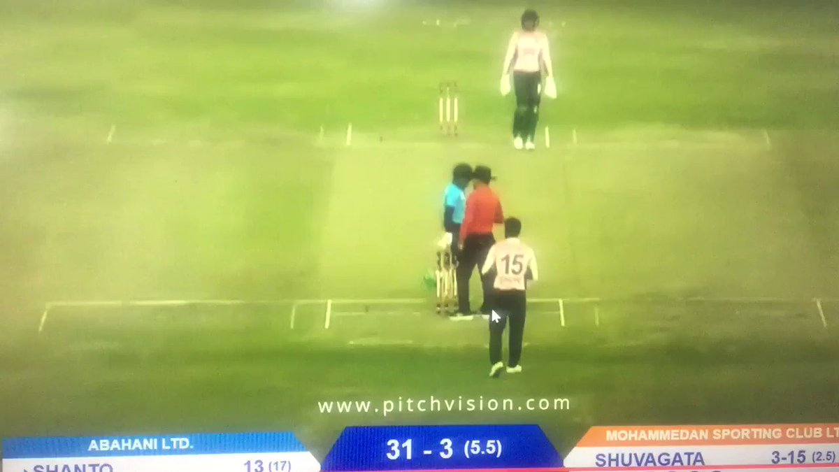 Shakib's tantrum here is world class. The way he chucks the stumps out of the ground is so similar to LITERALLY throwing your toys out of the pram. https://t.co/dp2XjvbsBg