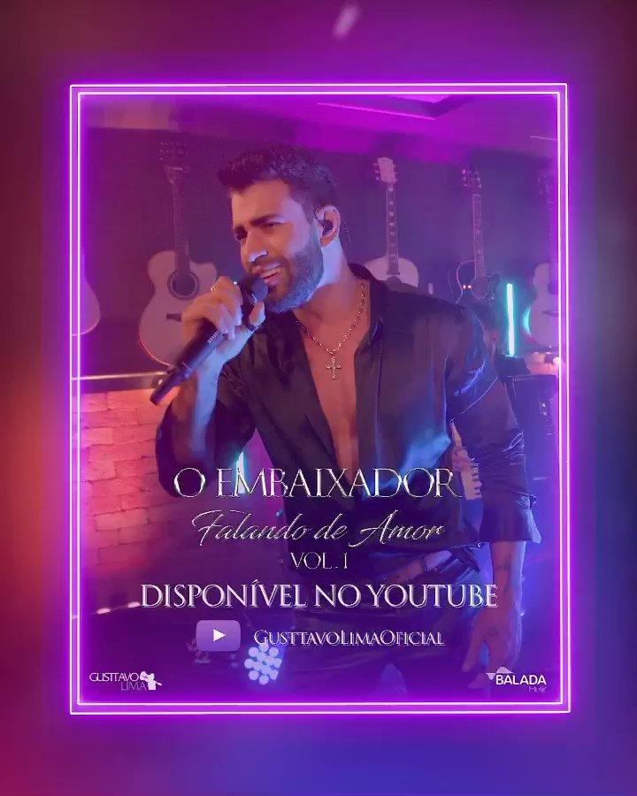 As seis modas apaixonadas, já estão disponíveis no YouTube!! Confere lá, bb!! É O Embaixador Falando de Amor. ❤️🏛 #FichaLimpa https://t.co/BhTjyK1QzL
