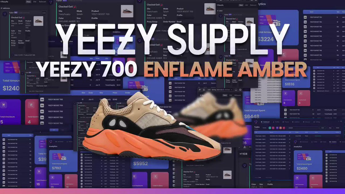 Powerful AIO Software – 💿   Another release where Valor users DOMINATED Yeezy Supply. THOUSANDS OF PAIRS. EVERY DROP.   Retweet & Reply with a '👑' for a chance at a WEEKLY key. https://t.co/gn8g2APFm2