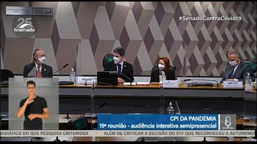 No encerramento da Audiência de hoje na CPI da COVID, solicitei que seja juntado aos autos desta comissão, o pronunciamento do Presidente da República acerca da utilização de máscaras. https://t.co/r5vkIv2a95