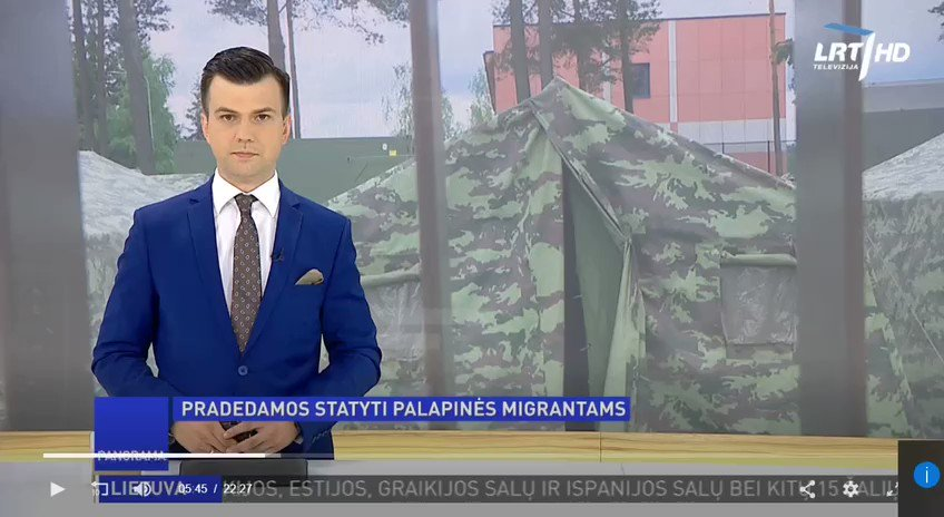 Belarusian authorities started to smuggle illegal immigrants from Iraq to Europe. A video shows Lithuanians building a temporary camp for migrants coming from Belarus. Lithuania says a state of emergency could be declared if the situation gets worse. Meanwhile, we received 1/4 https://t.co/xR86pUCvnd