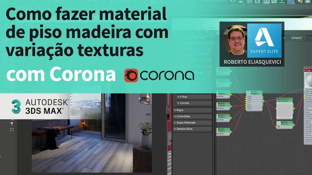 Corona Renderer: Veja como fazer material de piso de Madeira com variações no #CoronaRenderer utilizando o CoronaMultiMap  https://t.co/5ZNP47pxd7  #3dsmax #CoronaRenderer @ADSKCommunity @Adsk3dsMax https://t.co/THQj1SIole