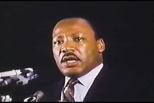 """The night before he was assassinated:   """"I may not get there with you, but I want you to know tonight that we as a people will get to the Promised Land.""""  Thank you, Daddy.  I believe.  I'm hopeful. https://t.co/pSAZWzsNmq"""