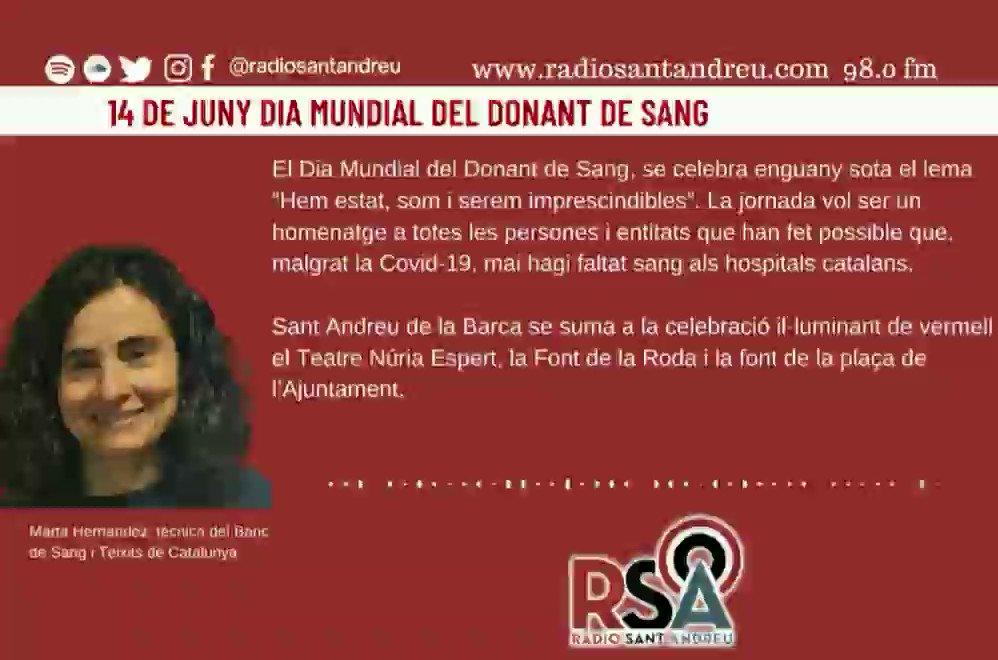 Image for the Tweet beginning: RÀDIO SANT ANDREU 98.0 FM