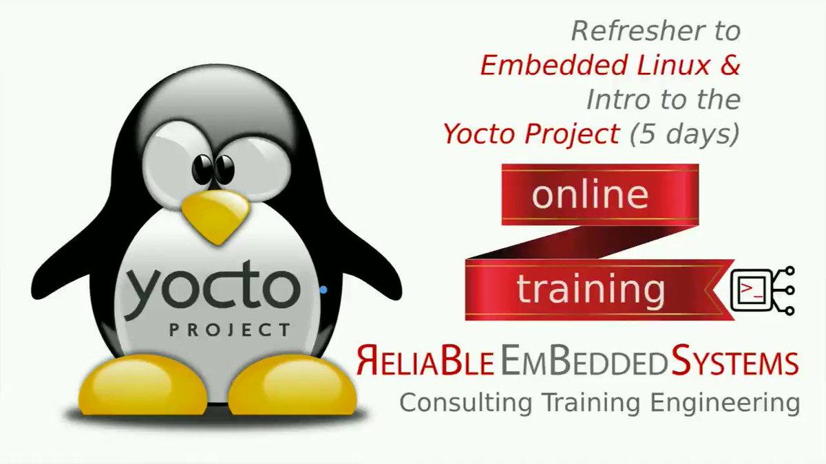 05 Jul: public/private (TBD), online, DE/EN (TBD), book until: 15 Jun https://t.co/4j2bdtZAd8 #yoctoizing #embeddedlinux #openembedded #linux #developer #embedded #coding #programming #software #embedsys #yocto https://t.co/W0RZFZr3Zt