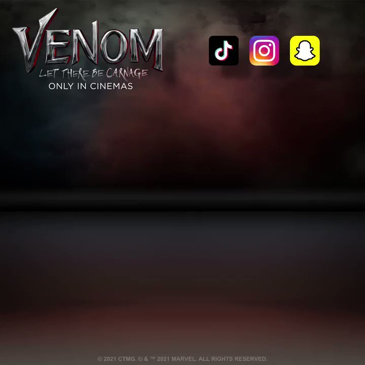 It's a mood. Express yourself with these new #Venom: Let There Be Carnage GIF Stickers! Just search 'VenomMovie' to add to your stories and more! https://t.co/E5g0xghrIF