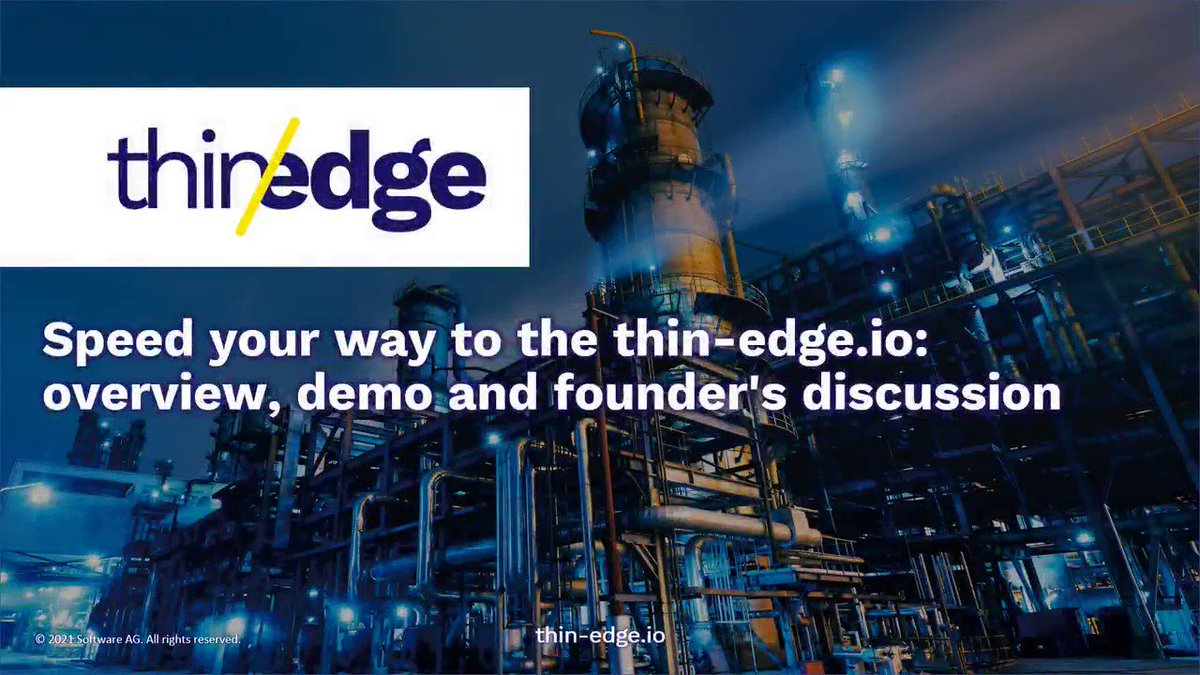 Speed your way to the @thin_edge_io with our overview, demonstration and founders discussion videos at the #IUG2021 https://t.co/u2nblu9JwK #JoachimTheusner @StefanVaillant @AndrejSchreine2 #SebastianBuettner @ifmelectronicde #opensource #embedded #IoT #industrial #edge #cloud https://t.co/7nF40GOgFx