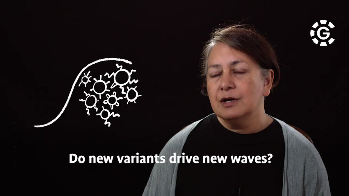 Do #variants drive new waves?  Part 2 of the CG Mini Lecture from Professor @sunetragupta.  Watch in full here - https://t.co/m5FMupxayL  #CG #CountingTheCosts #scienceunlocked https://t.co/q4FPojXHJh