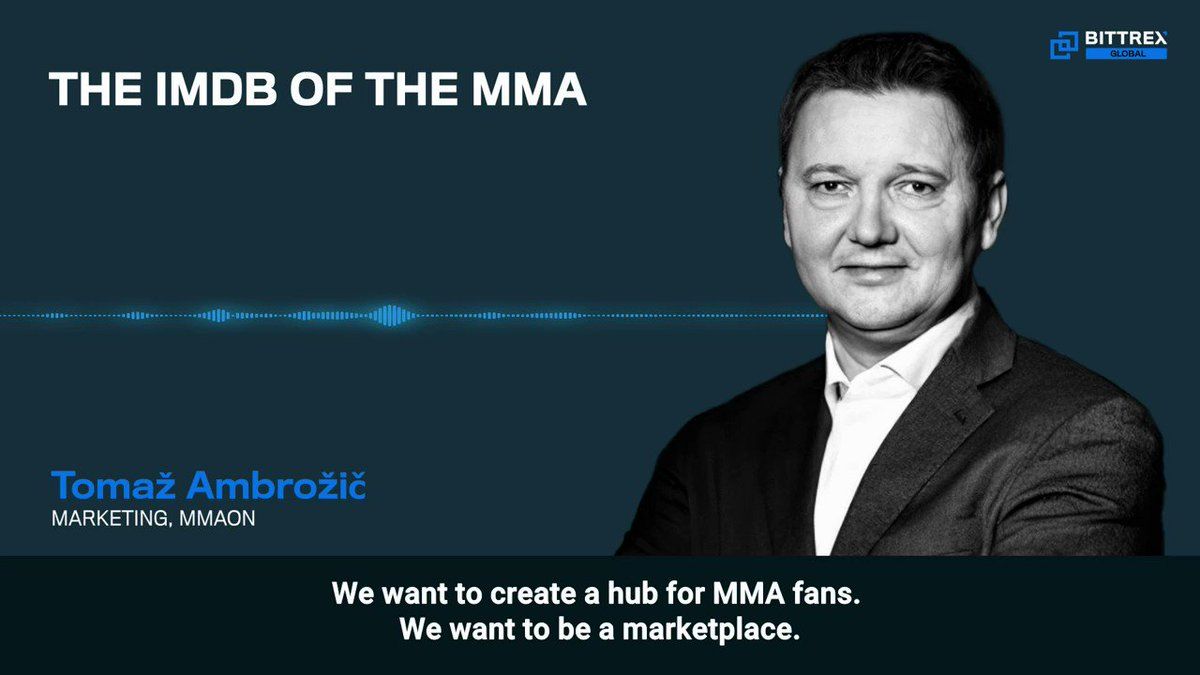 """""""We want to create a hub for MMA fans. We want to be a marketplace."""" – @TomazAmbrozic, @MMAON_   Watch the entire AMA here: https://t.co/FPGnr087iQ   #MMA #blockchain #AMA https://t.co/AxGW8995u9"""