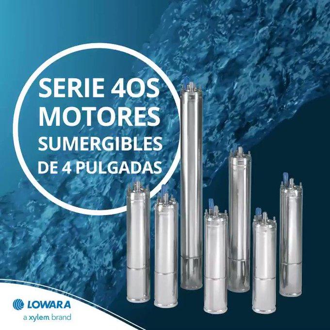 """La gama de motores sumergibles de 4"""",  ofrece soluciones avanzadas para proporcionar #agua en todas las condiciones.   La elección de sus materiales g..."""