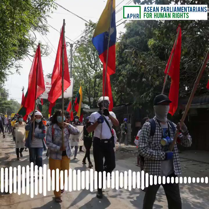 """""""Hear the voice of the people of #Myanmar.""""   That's the message from @DrSasa22222 to the international community, including governments, to recognise the @NUGMyanmar   From Episode 3 of our podcast series, which profiles those resisting.   Listen here: https://t.co/wUqq57Y5zE https://t.co/rqtC7GsYpO"""