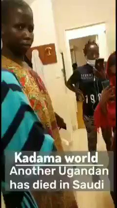 #Uganda A Ugandan girl died in Saudi Arabia She was employed through a recruitment agency called ABS...It has failed to take responsibility of her body, and other girls are still held in confinement. @UgEmbKSA (Ugandan Embassy in Saudi Arabia), please help this girl & others. https://t.co/fdcm9wbCju