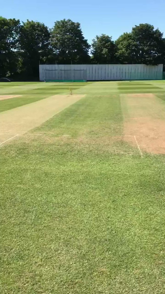Image for the Tweet beginning: Midweek pitch report from @KECC1853