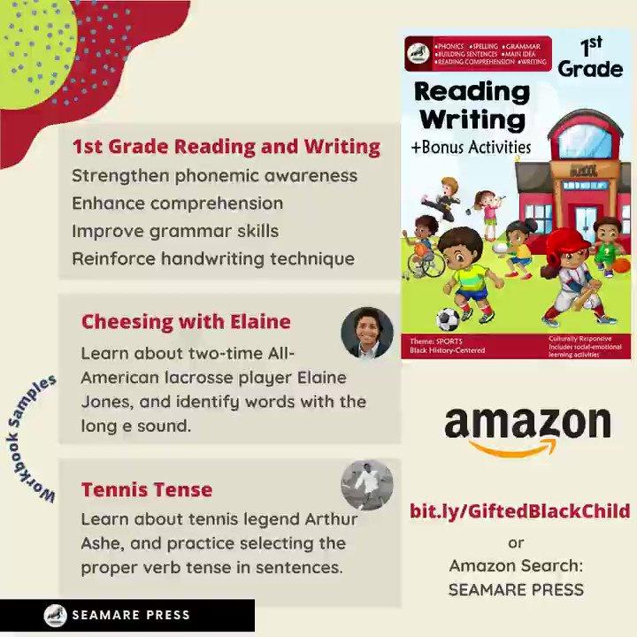 Peek inside 1st grade's workbooks.  https://t.co/pE8lfHAoUU #education #learning #learn #school #blackhistory #fortheculture #preschool #kindergarten #summer #book #books #kids #firstgrade #secondgrade #thirdgrade #child #summercamp #reading #math #buyblack #juneteenth #funfacts https://t.co/wAzvTOeDGt