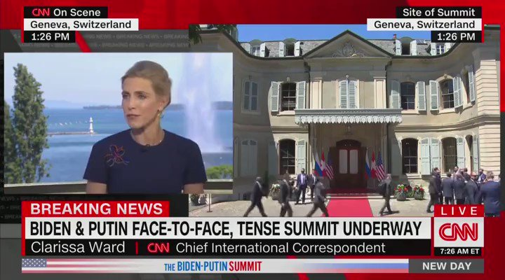 He (Biden) Looked Putin in the Eye with a Smile and 'Putin Looked Away'  Wow. @CNN is so pathetic. https://t.co/6HK088j92R