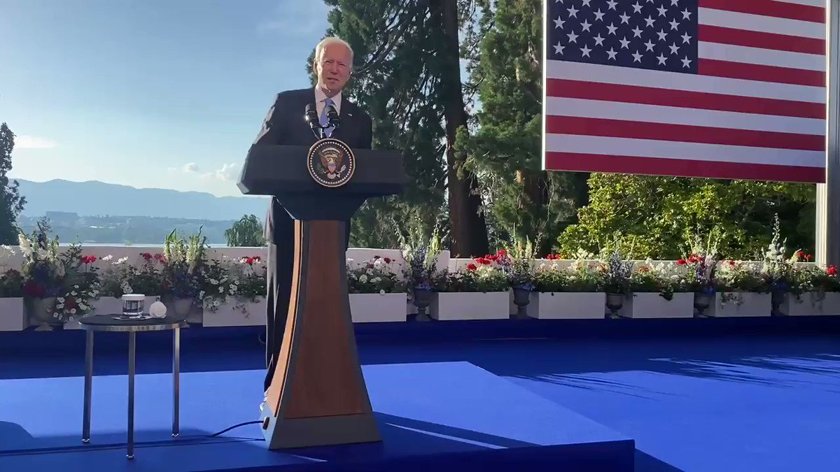 Biden says he gave Putin a list of 16 things that are off limits for cyber attacks on critical infrastructure. https://t.co/ijyQX4LU2l