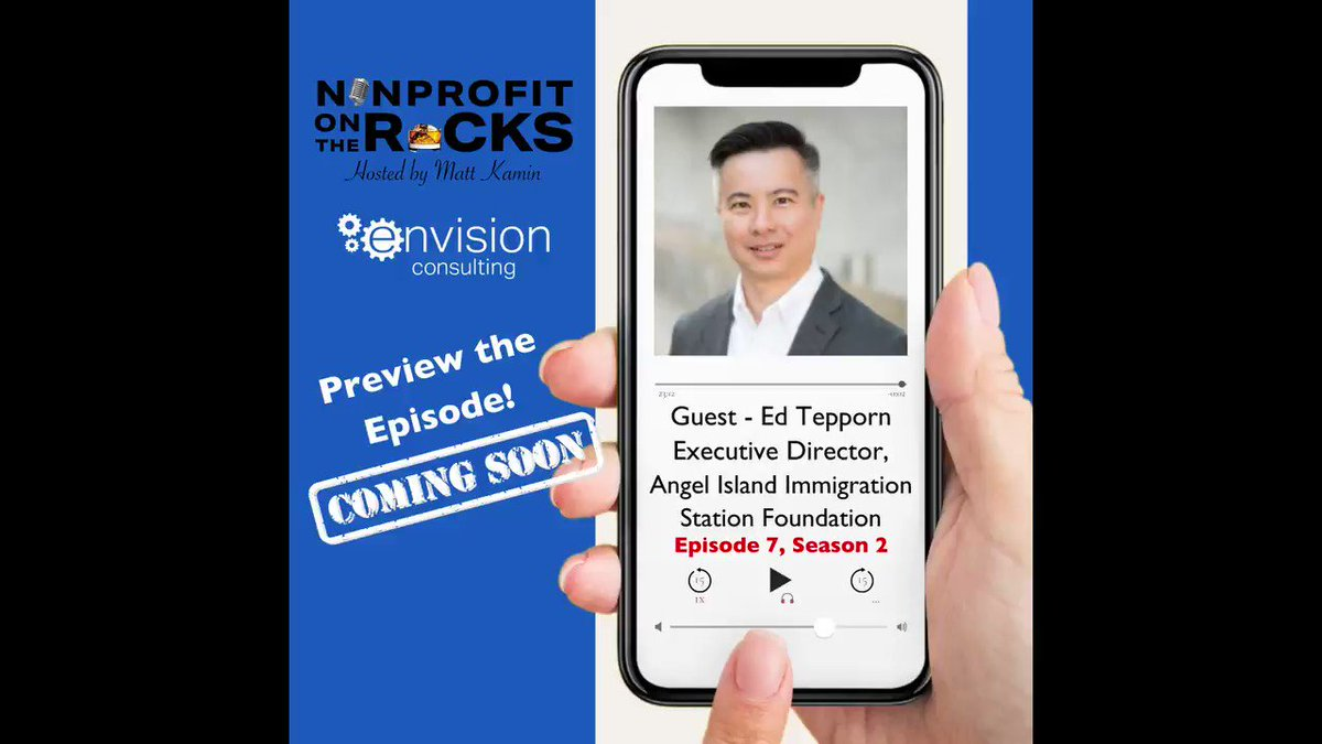 @thenonprofitguy talks with Edward Tepporn, Executive Director of @AngelIslandSP  on next week's episode of #NonprofitOnTheRocks. Listen to the preview now.   #podcastguest #podcastlife #envisionconsulting #nonprofit #aapi #asianamerican #asianamericans #immigration #SanFrancisco https://t.co/gVhNnUMyQl