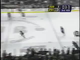 Image for the Tweet beginning: 1996. Ron Hextall skates the