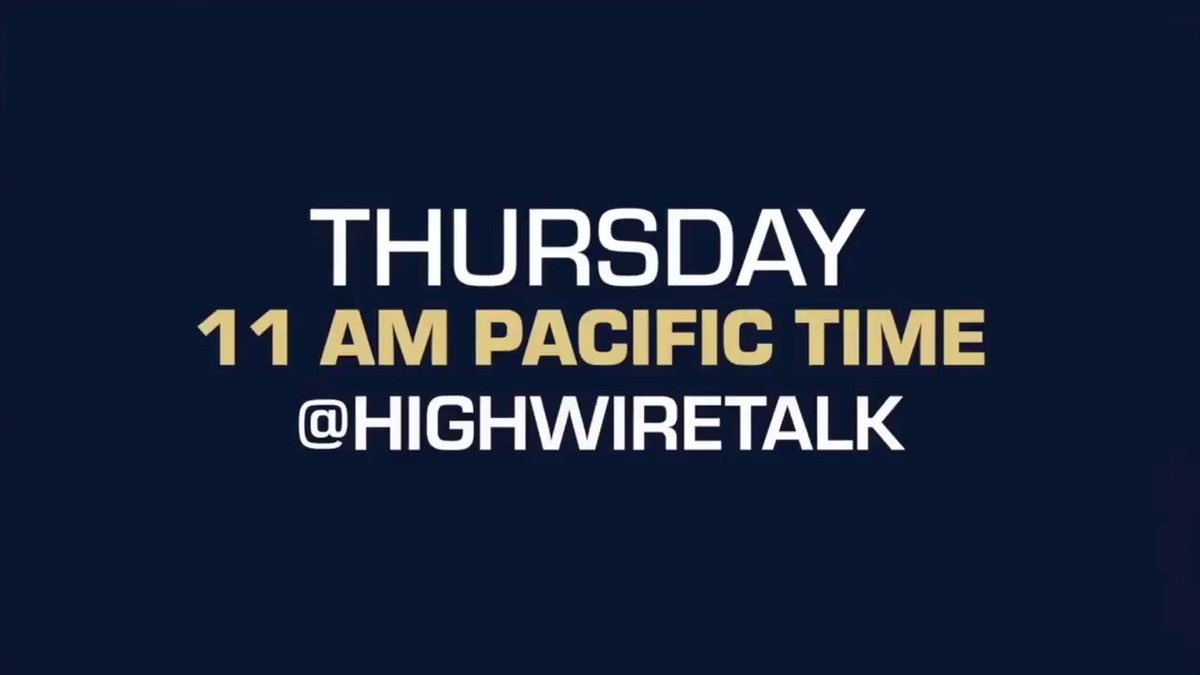 Image for the Tweet beginning: Join us on The HighWire