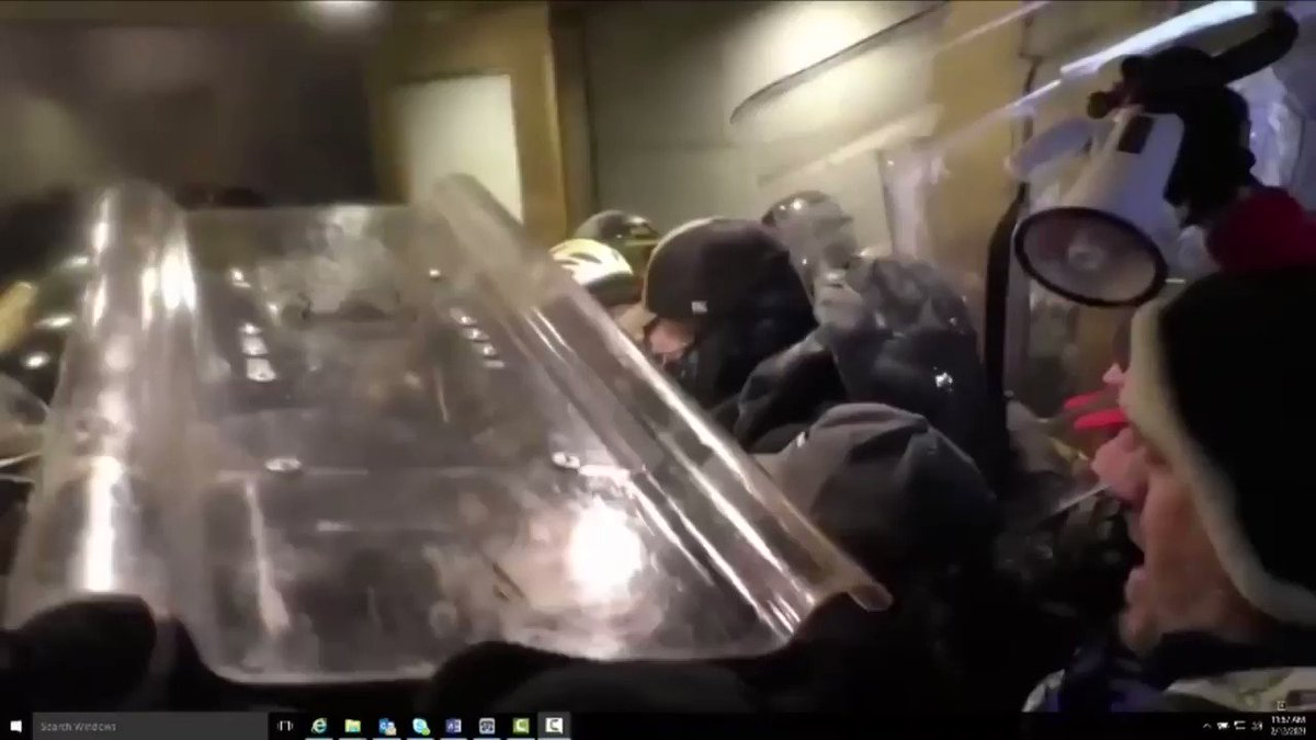 ALERT:  Court orders release of more video in Jan 6 case of Patrick McCaughey, who's accused of assaulting police on frontline  I'm sharing  *some* ... just listen to the audio in this clip... as the mob coordinates its attack on the police line ==> https://t.co/yiZQxILIS3