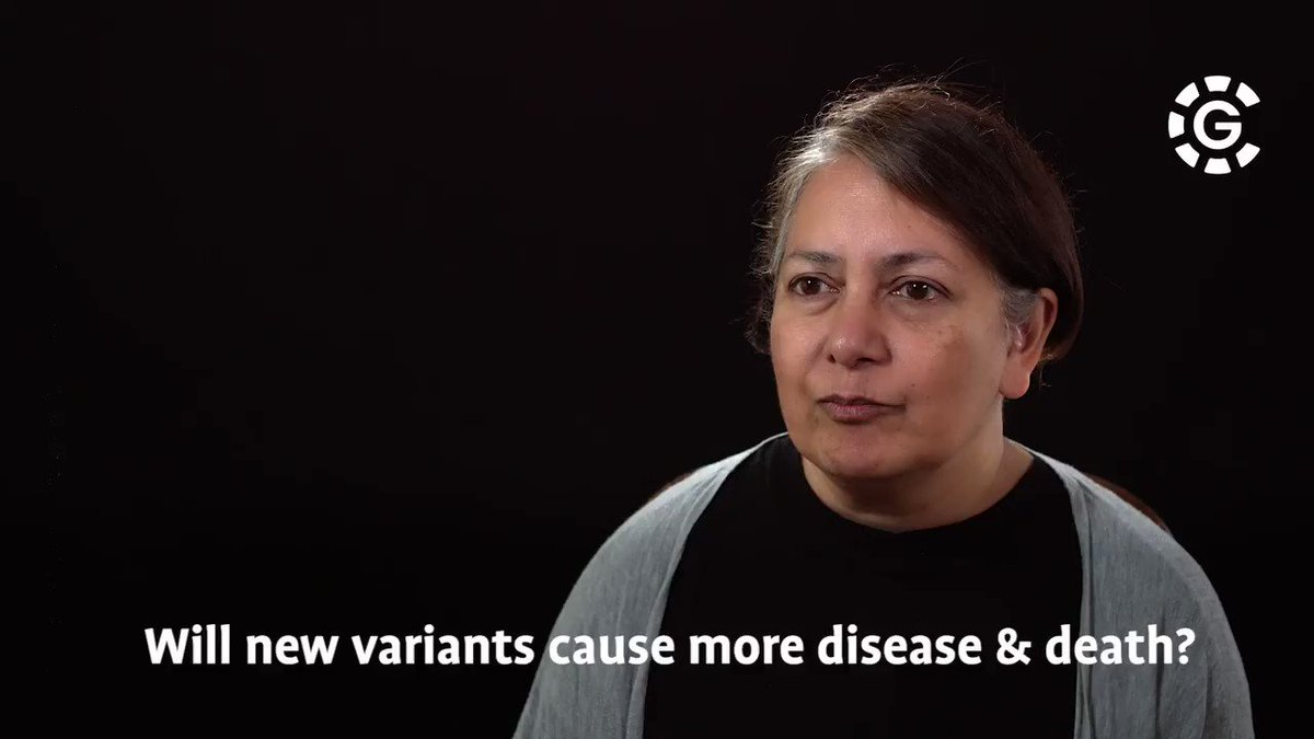 Is it likely that new #variants will cause more disease and death?  Professor Gupta explains why this is very unlikely.  #ScienceUnlocked #CG  Full mini lecture available here - https://t.co/m5FMupxayL https://t.co/78T3rE5IqV