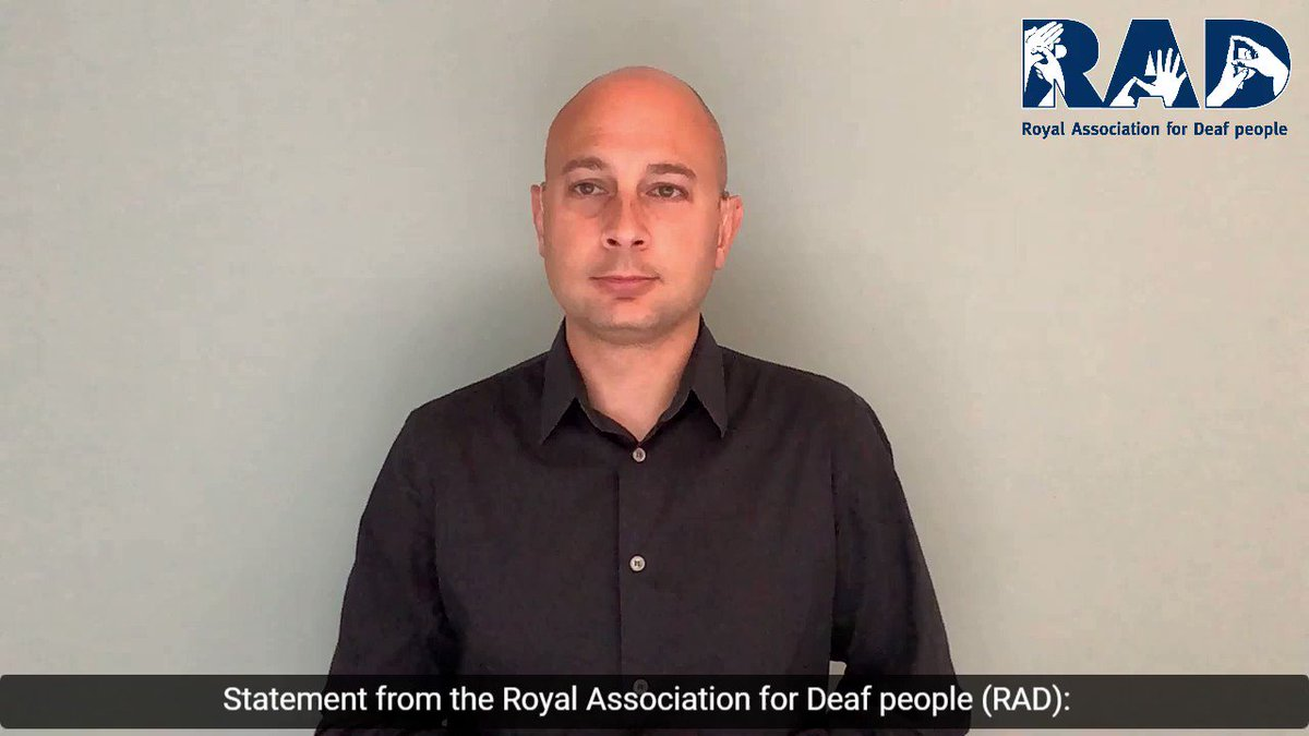 The @royaldeaf are really coming through strongly during the pandemic.   I love this statement about yesterday's #WhereIsTheInterpreter #WITIJudicialReview in English text and BSL + open captions video. https://t.co/O4ElpcbrWZ