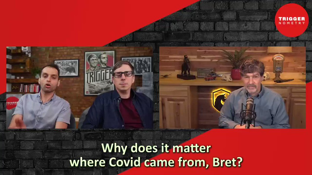 """Evolutionary @BretWeinstein   """"It matters a great deal whether COVID-19 came from a lab leak""""  Hosts @francisjfoster @KonstantinKisin https://t.co/s3mJ7CJSMy"""