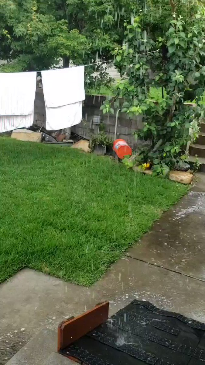 """It's pouring rain with thunder & lightning in La Crescenta. Forget """"June Gloom"""", we're setting up for """"June Rain, July Mosquitos"""" All of my laundry is sopping wet. #weather  #SoCal https://t.co/yRFPfZ53ul"""