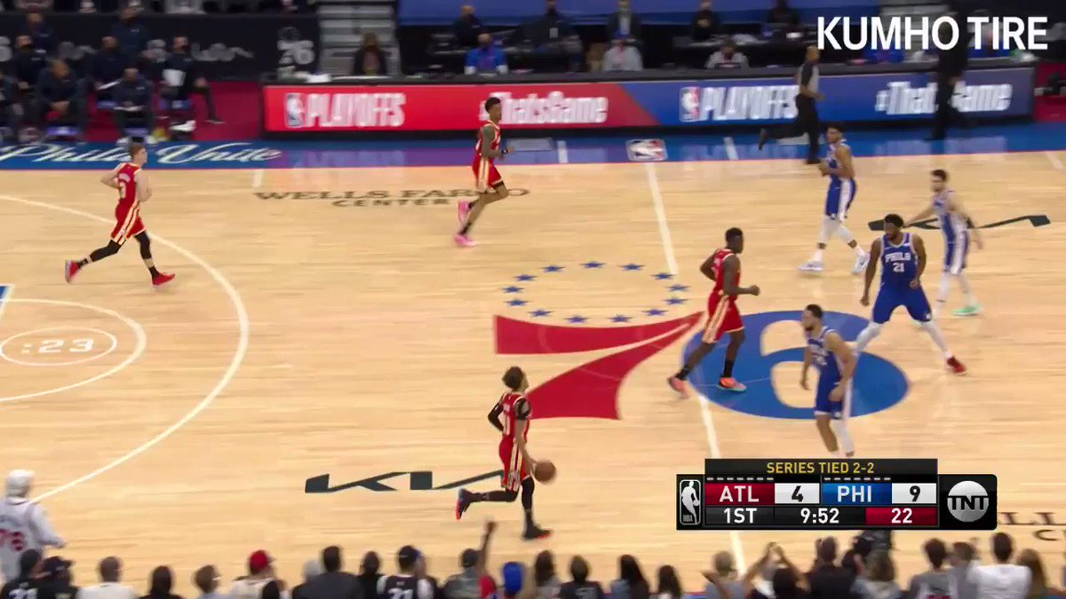 .@TheTraeYoung dropped a playoff career-high 39 PTS in Game 5 ❄️  🎥 Presented by @KumhoTireUSA https://t.co/AXVkKxwaDG