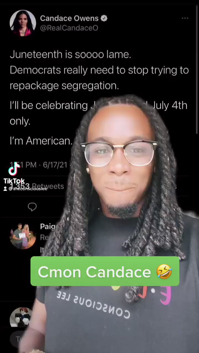 @TheConsciousLee's photo on Candace Owens